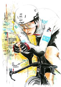 Cycling Art, Bicycle, Drawings, Illustration, Cards, Photography, Poster, Birth, Vehicle