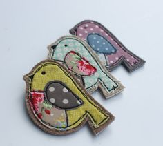 Fabric Bird Brooch
