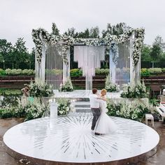 This is how to really make the focal point of your reception space stand out! Wedding Reception Backdrop, Outdoor Wedding Decorations, Ceremony Decorations, Wedding Ceremony, Outdoor Weddings, Luxury Wedding Decor, Chic Wedding, Dream Wedding, Wedding Stage Design