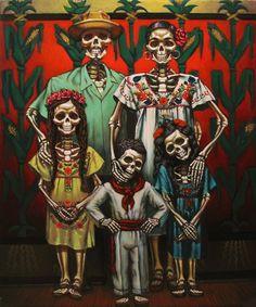""""""" La Familia """"  Dia De Los Muertos"""