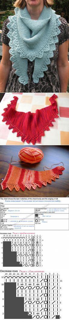 lutik-вязание крючком и спицами: шарф-бактус спицами