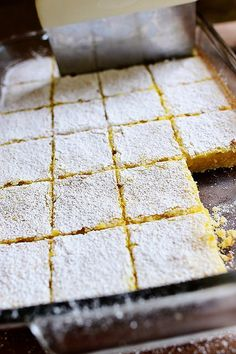 Lemon Bars | The Pioneer Woman | I used unsalted butter and aimed for 2/3 c lemon juice. Yum! (Use a food processor to make the crust) Chocolate Cookies, Chocolate Pies, Lemon Squares Recipe, Recipe For Lemon Bars, Lemon Bar Recipes, Dishes Recipes, Sweet Recipes, Lemon Desserts, Dessert Recipes