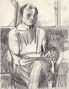 Elmer Bischoff self portrait, ca. 1958