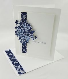 A Little Fussy Cut in Blue by tjdstampsalot - Cards and Paper Crafts at Splitcoaststampers Stampin Up Anleitung, Stampin Up Karten, Beautiful Handmade Cards, Stamping Up Cards, Cards For Friends, Sympathy Cards, Paper Cards, Flower Cards, Anniversary Cards