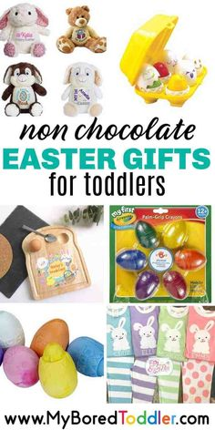 Non chocolate Easter gifts for toddlers gifts chocolate Non chocolate Easter gifts for toddlers Easter Gifts For Kids, Easter Toys, Crafts For Kids To Make, Easter Crafts, Non Toy Gifts, Easter Bunny Decorations, Craft Stick Crafts, Diy Crafts, Easter Chocolate