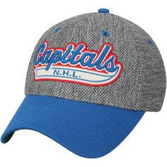 70a3f9542 Men's Washington Capitals adidas Gray/Navy Culture Two Tone Felt Structured  Flex Hat, Your