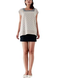 Silver Top with Embroidered Spot by Abraham & Thakore   Indian Designers   Indian Clothes   Tops