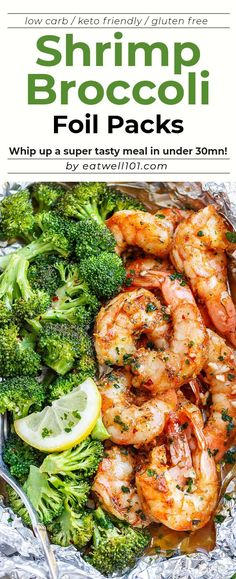 Shrimp and Broccoli Foil Packs with Garlic Lemon Butter Sauce - - Whip up a super tasty meal in under 30 minutes! - by Shrimp and Broccoli Foil Packs with Garlic Lemon Butter Sauce - - Whip up a super tasty m Foil Pack Meals, Foil Dinners, Healthy Eating Tips, Clean Eating Snacks, Healthy Recipes, Advocare Recipes, Fish Recipes, Seafood Recipes, Cooking Recipes