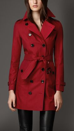 Gabardine Trench Coat with Check Cashmere Undercollar | Burberry