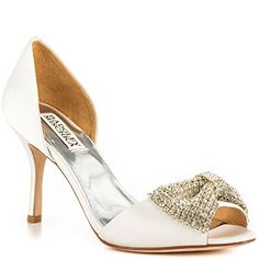 Badgley Mischka Womens Lisbeth D Orsay PumpWhite55 M US ** Want additional info? Click on the image.