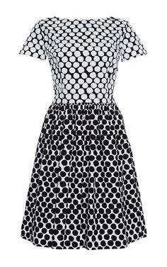 Printed Cotton-Blend Dress by Oscar de la Renta Now Available on Moda Operandi