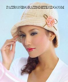 12 Patrones de Gorros Crochet   Crochet y Dos agujas
