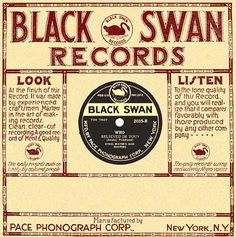 Black Swan record sleeve