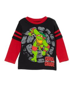 Love this Black TMNT 'Cool But Crude' Layered Tee - Toddler by Teenage Mutant Ninja Turtles on #zulily! #zulilyfinds