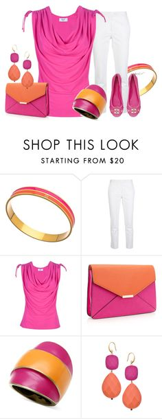 """""""Pink and Orange"""" by tayswift-1d ❤ liked on Polyvore featuring Trina Turk, Joseph, Blugirl, Accessorize, Glitterrings and David Aubrey"""