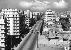 Εgnatia str during the Arcadia Greece, Thessaloniki, Macedonia, Old Photos, New York Skyline, Greek, Places To Visit, Black And White, City