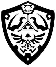 Hylian shield vector by reptiletc.deviantart.com on @deviantART