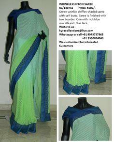 wrinked chiffon saree
