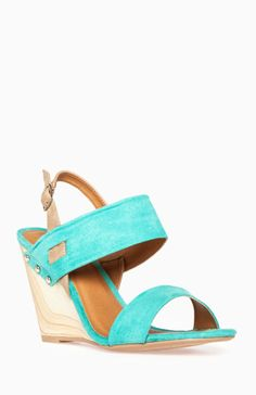 Wooden Heel Wedge Sandals