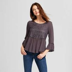 The Airy Tie-Sleeve Blouse - Who What Wear™ is all about flow and movement, with expert tailoring adding a detail to your arms and torso at every moment. Billowing sleeves are cinched at the elbow with accent ties; A-line cut is flattering on every figure.
