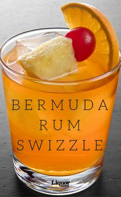 No, it's not a dance. But it just might spark some killer moves. To prepare a Rum Swizzle, it's best to use an authentic swizzle stick. Real swizzle sticks are long stems snapped off a tree native to the Caribbean, and feature multiple prongs that stick o Cocktails For Parties, Summer Cocktails, Cocktail Drinks, Cocktail Recipes, Margarita Recipes, Dark Rum Cocktails, Drinks Alcohol Recipes, Alcoholic Drinks, Bartender Drinks
