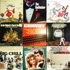 Found a bunch of classic soundtrack LPs today! #fridaynightmovie #vintagevinyl #ost #soundtrack #convoy #thebigchill #grease #cratedigging