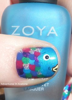 Rainbow fish nails! OMG I WANT