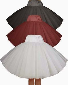 Rockabilly Double Full Petticoat- Xs to 5x - Perfect for those swing dresses - Black, White and Red