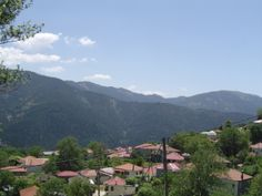 Evrytania, Krikello village, view to Grammeni Oxia mountain
