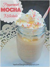 twelveOeight: Peppermint Mocha Milkshake
