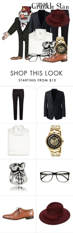 """Grunkle Stan"" by tallybow ❤ liked on Polyvore featuring Dolce&Gabbana, Lands' End, Armani Collezioni, Kenneth Cole, Bling Jewelry, Artioli, men's fashion and menswear"