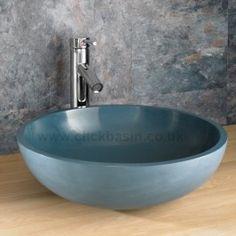 Elana Turquiose Blue 40 cm Round Basin