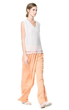 FLOWING SARONG TROUSERS - Woman - New this week | ZARA United States
