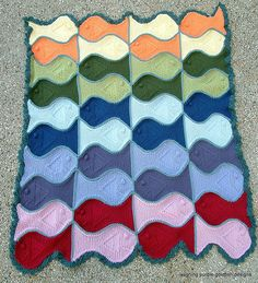 Fishy pattern afghan!