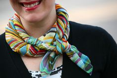 Twisted Rope Scarf Tie Tutorial from Already Pretty.    A nifty - and neater - way of wearing a scarf.
