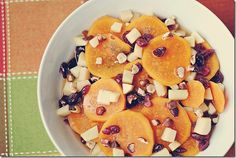sweet potato and cranberry sauté.  I love this girl's blog!  Everything looks amazing and is healthy!