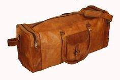 New Large Men's Leather Vintage Duffle Luggage Weekend Clothing Gym Travel Bag Mens Travel Bag, Leather Duffle Bag, Men Online, Weekend Outfit, Online Fashion Stores, Latest Fashion Trends, Leather Men, Bags, Vintage