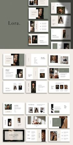LORA - Modern and Simple PowerPoint Template Ppt Design, Design Page, Design Brochure, Slide Design, Ppt Template Design, Booklet Design, Brochure Layout, Graphic Design Layouts, Design Posters