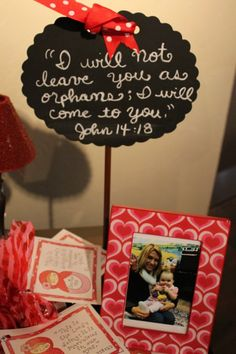 Adoption shower... so sweet...LOVE this for when Catrina comes home!