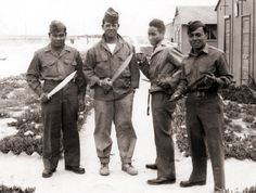 Filipinos serving in the U.S. military during WWII.