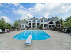 The pool looks very inviting at this beautiful 10,000 sq ft home in Columbus.