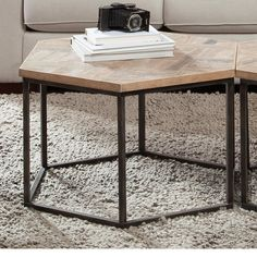 Found it at Wayfair - Thornhill Hexagon Coffee Table Baby Cradle Wooden, Hexagon Coffee Table, Modern Industrial Furniture, Riverside Furniture, Contemporary Coffee Table, Cool Coffee Tables, Deco Furniture, Furniture Shopping, Furniture Ideas