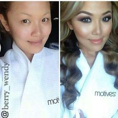 Wow the power of makeup