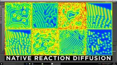 """Kind of Reaction Diffusion made in Cinema 4D with native tools.  Check his channel https://vimeo.com/jonahtobias for a description of what Reaction Diffusion is. I dont' know if this is technically a """"Reaction Diffusion"""", but the deformations are self generated because of the loop of Vertex Map deforming itself (I guess; anyway the Displacer deformer is used to start the randomnes"""