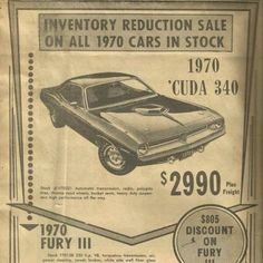 Trendy Muscle Cars For Sale Wheels Ideas Old Advertisements, Car Advertising, Mopar, Dodge, Plymouth Muscle Cars, Muscle Cars For Sale, Car Prices, Car Posters, Us Cars