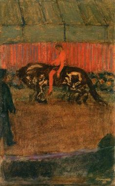 Pierre Bonnard, On the Track, 1895, oil on panel, 42.3 x 27.5 cm, Private Collection