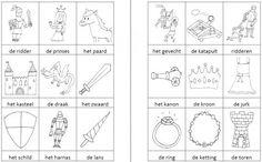 Dit woordweb in het thema ridders en prinsessen kun je downloaden op de website van Juf Milou.