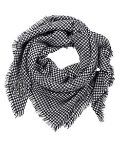 Look at this Black Houndstooth Monogram Blanket Scarf - Women on #zulily today!