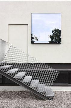 Unknown architect - Escalier acier / GC caillebotis