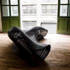 Matthias Pliessnig's steam-bent Providence Black Bench | New York Design Week 2015